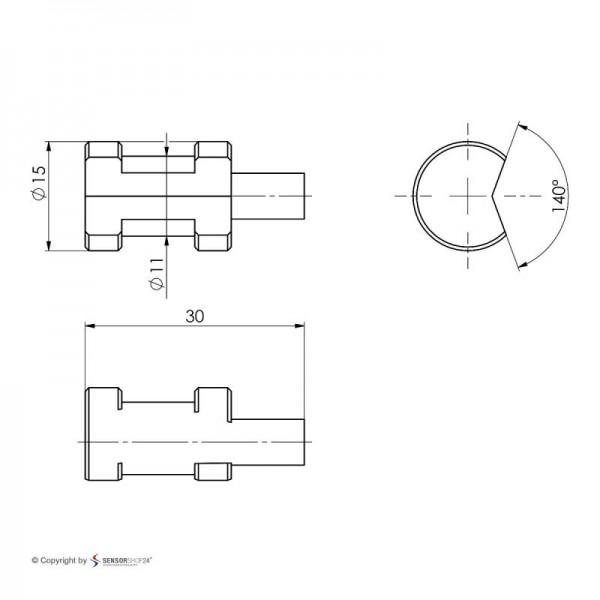 Sensorshop24® LG1 трубный датчик температуры J-типа