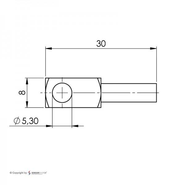 Sensorshop24® LG2 поверхностный датчик температуры J-типа с контактным блоком