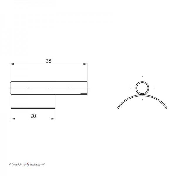 Sensorshop24® 014-L3 трубный датчик температуры с латунной гильзой