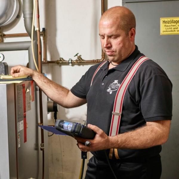 Wöhler A 550 промышленный анализатор дымовых газов до 4 000 ppm CO с тестом 4-Па и датчиком NO
