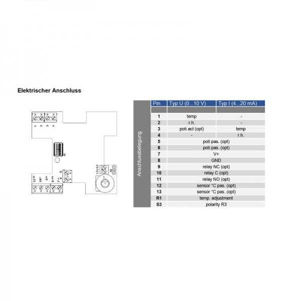 Sensorshop24® RFFT-R датчик температуры и влажности в помещении c аналоговым выходом