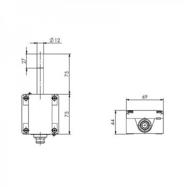 Sensorshop24® ARFT/M наружный датчик температуры и влажности c аналоговым выходом и разъемом М12