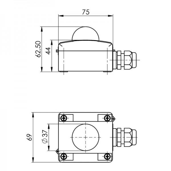 Sensorshop24® ASTF датчик температуры по тепловому излучению (наружный)