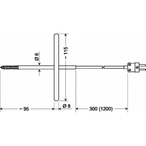 GGF 200 датчик температуры -65...+200°C, длинна 95 мм., толщина 6 мм. для замороженых продуктов