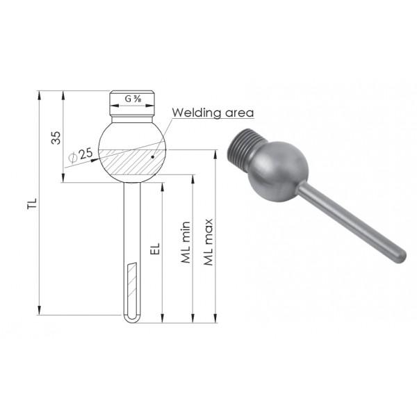 Greisinger APHK25 шаровая втулка с резьбой G3/8