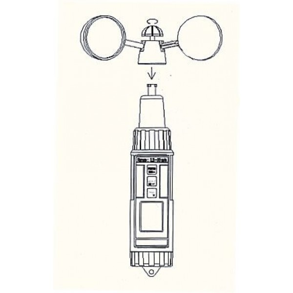 PCE-A420 чашечный анемометр