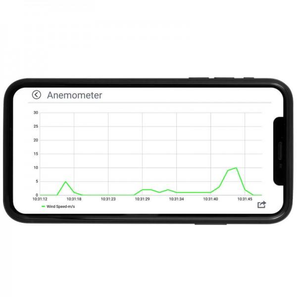 PCE-BDA 10 анемометр с интерфейсом Bluetooth