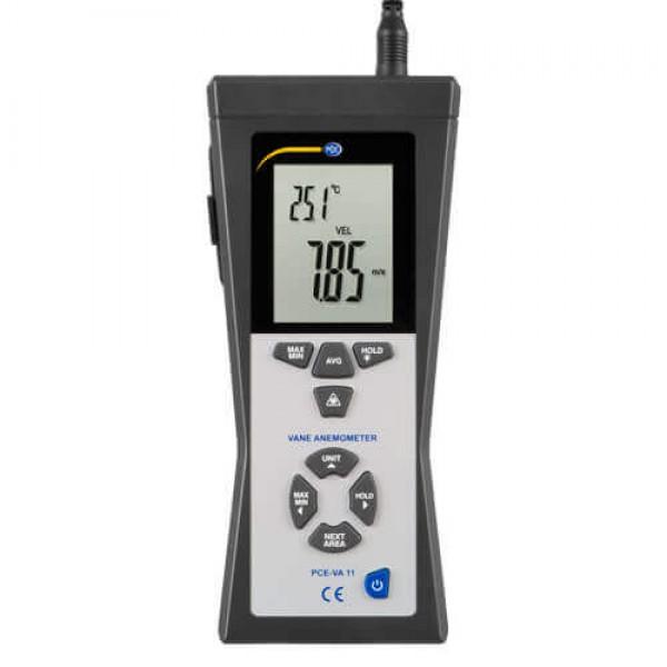 PCE-VA11 анемометр с выносным датчиком и встроенным пирометром