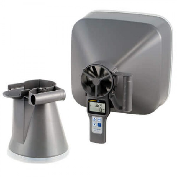 PCE-VA20 лопастной анемометр/гигрометр/термометр в наборе с воронками