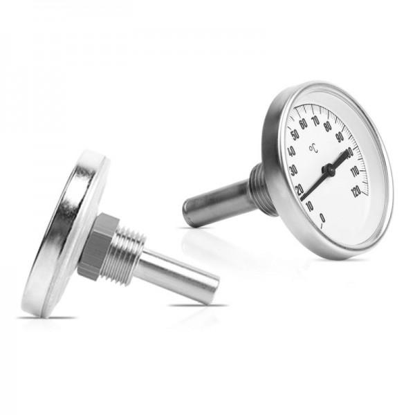 """Sensorshop24® BI-001-VA биметаллический термометр с резьбой 1/2"""" и длиной 40/100/150/200/250/300 мм"""