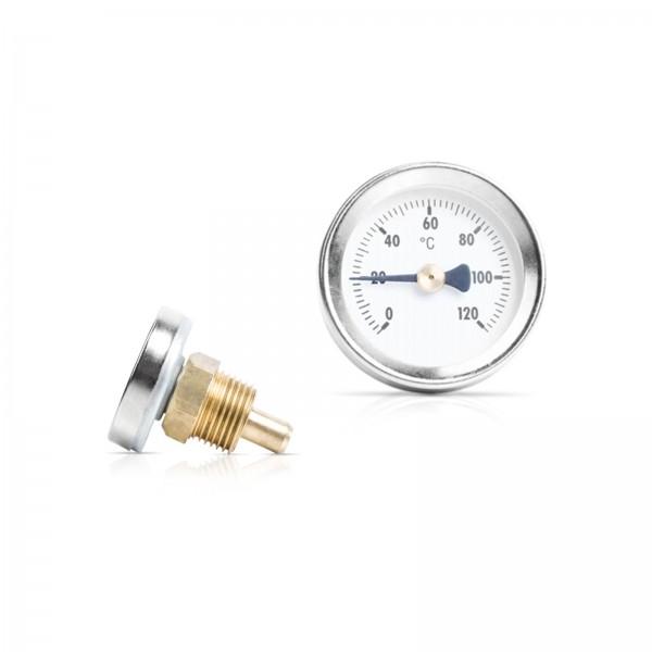 """Sensorshop24® BI-004 биметаллический термометр с резьбой 1/2"""" и длиной 32,5/50/100 мм"""