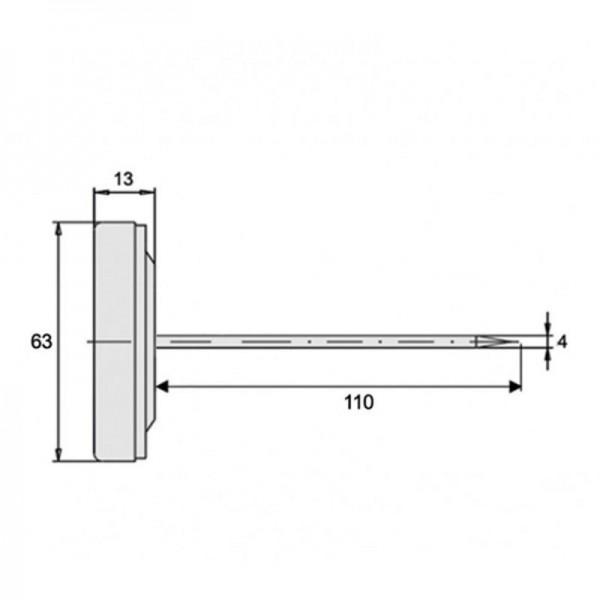 Sensorshop24® BI-090 биметаллический термометр для мяса