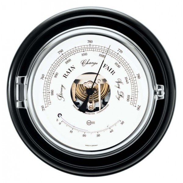 Barigo 1586CR морской баро-/термометр с окантовкой из дерева