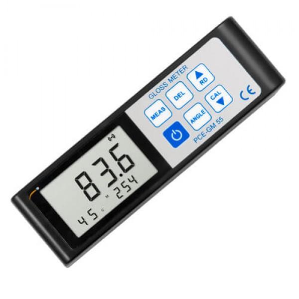 PCE-GM 55 блескомер с тремя углами измерения 20°, 45° и 75°