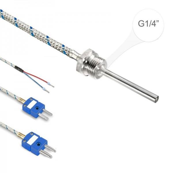 """Sensorshop24® EF3G ввинчиваемый датчик температуры L-типа G1/4"""""""