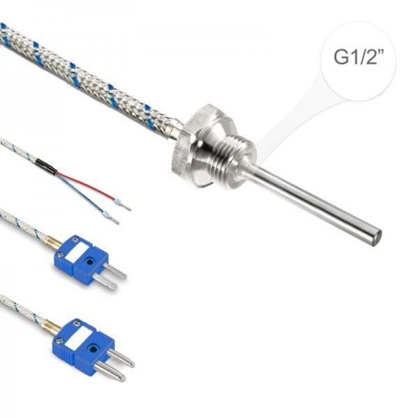 """Sensorshop24® EF1G ввинчиваемый датчик температуры L-типа G1/2"""""""