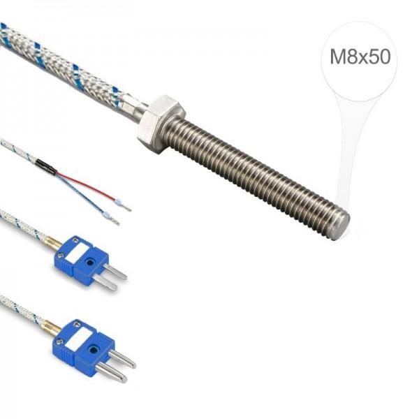 Sensorshop24® EF6G ввинчиваемый датчик температуры L-типа М8х50
