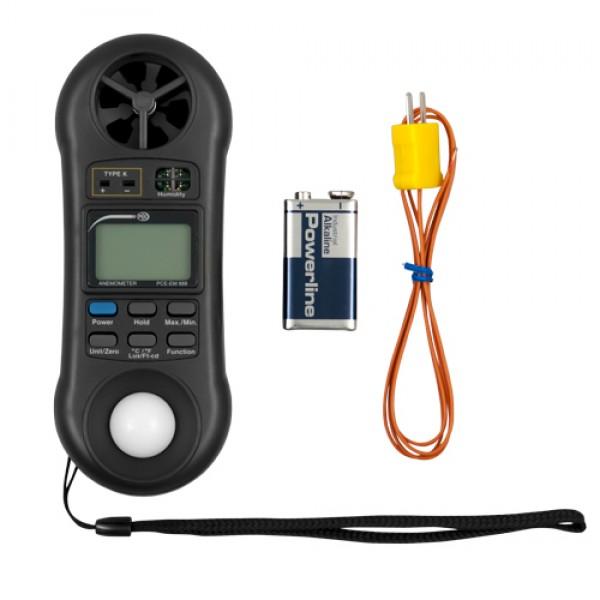 PCE-EM 888 анемометр, термогигрометр, барометр и люксметр