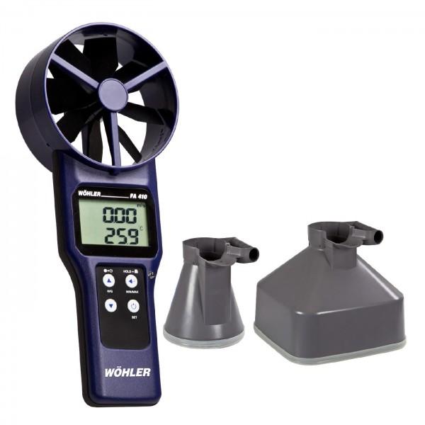 Wöhler FA410 SET анемометр/термометр в комплекте с воронками