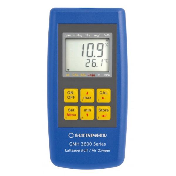 Greisinger GMH 3695 анализатор кислорода, давления, температуры в воздухе с регистрацией данных