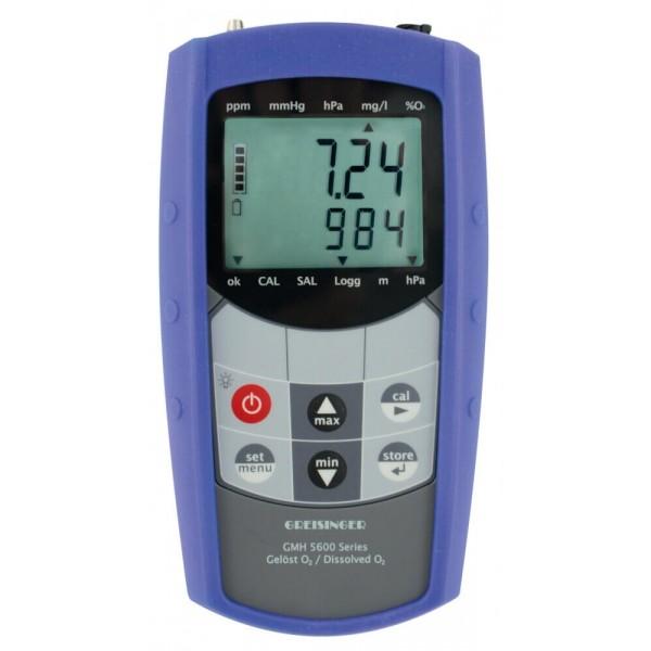 Greisinger GMH 5650 водонепроницаемый анализатор кислорода в воде с функцией измерения давления, температуры, глубины и регистрацией данных