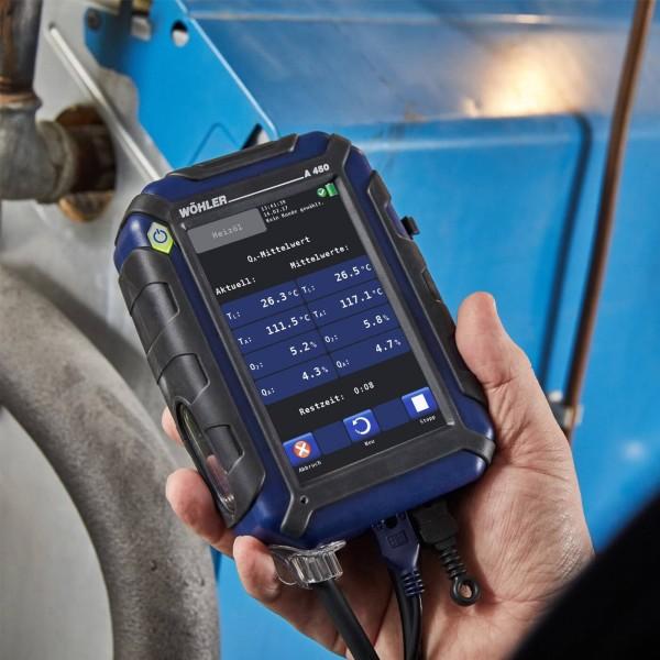 Wöhler A 450 ECO анализатор дымовых газов с компенсацией H2