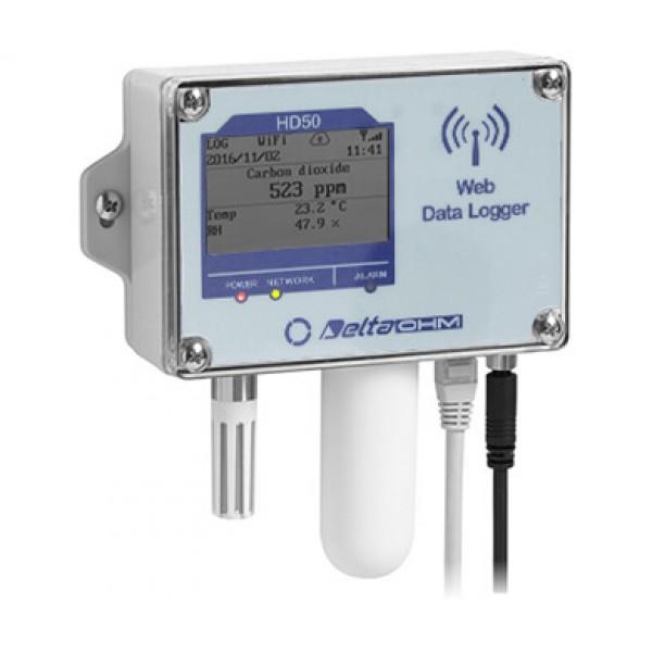 Delta OHM HD5014bNB...TV водонепроницаемый Web регистратор температуры, влажности, атмосферного давления и CO2