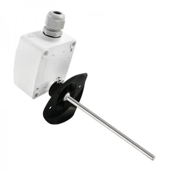 Sensorshop24® KNTF канальный датчик температуры с монтажным фланцем