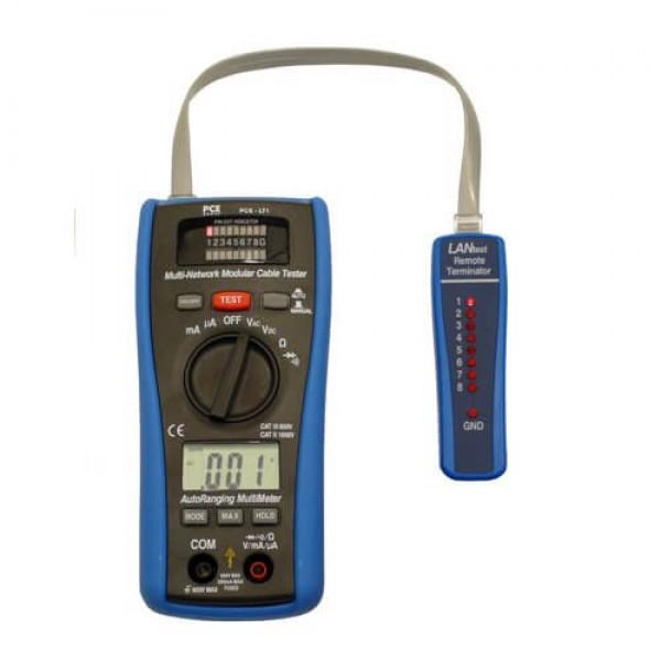 PCE-LT1 LAN тестер, мультиметр