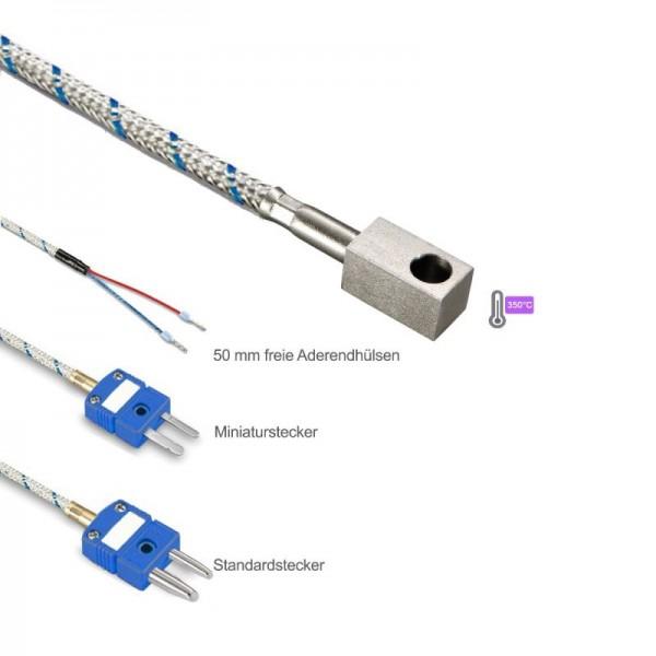 Sensorshop24® LG2 поверхностный датчик температуры L-типа с контактным блоком