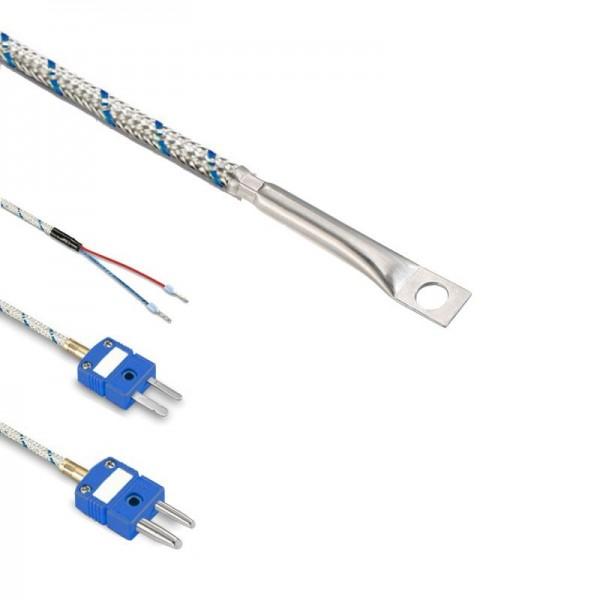 Sensorshop24® LG7 поверхностный датчик температуры L-типа с отверстием