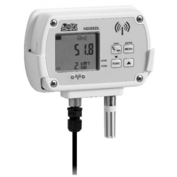 Delta OHM HD35ED14bNI...TCV WiFi регистратор температуры, влажности, атмосферного давления и освещенности c выносным датчиком