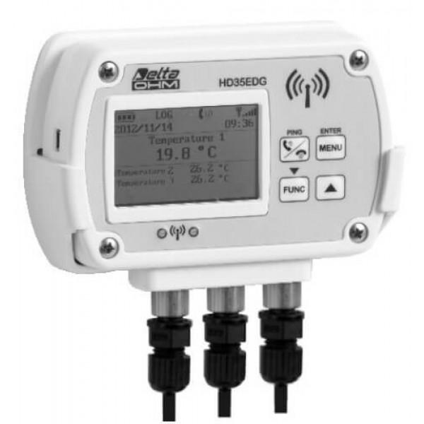 Delta OHM HD35ED7P/3TC трехканальный WiFi регистратор температуры для выносных датчиков (Pt1000)