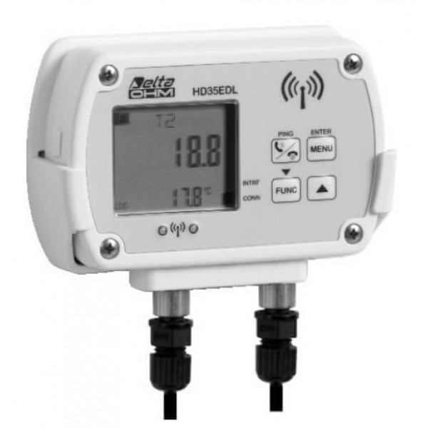 Delta OHM HD35EDN/2TC двухканальный WiFi регистратор температуры для выносных датчиков (NTC 10KΩ)