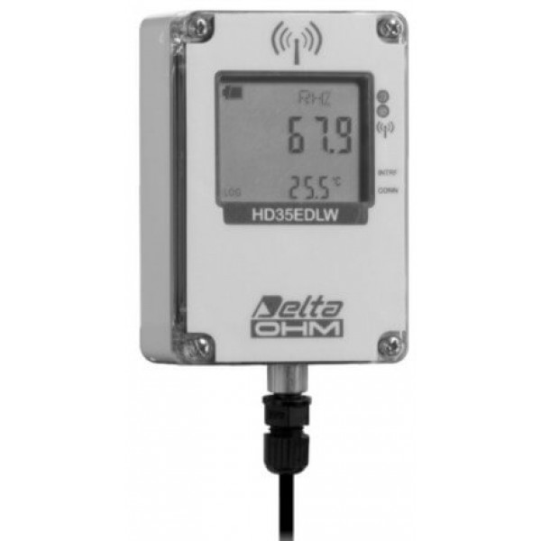 Delta OHM HD35EDW1NTC водонепроницаемый, одноканальный WiFi регистратор температуры и влажности для выносных датчиков (NTC 10KΩ)