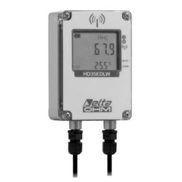 Delta OHM HD35EDWRPTC водонепроницаемый, двухканальный WiFi регистратор солнечной радиации и осадков для выносных датчиков