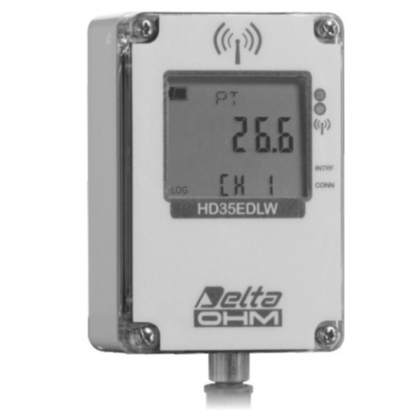 Delta OHM HD35EDWN/1TC водонепроницаемый, одноканальный WiFi регистратор температуры для выносных датчиков (NTC 10KΩ)