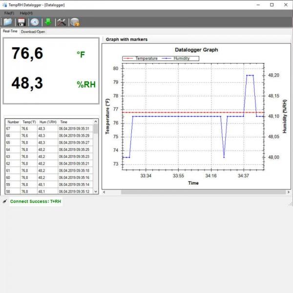 PCE-HT 72 регистратор температуры и влажности