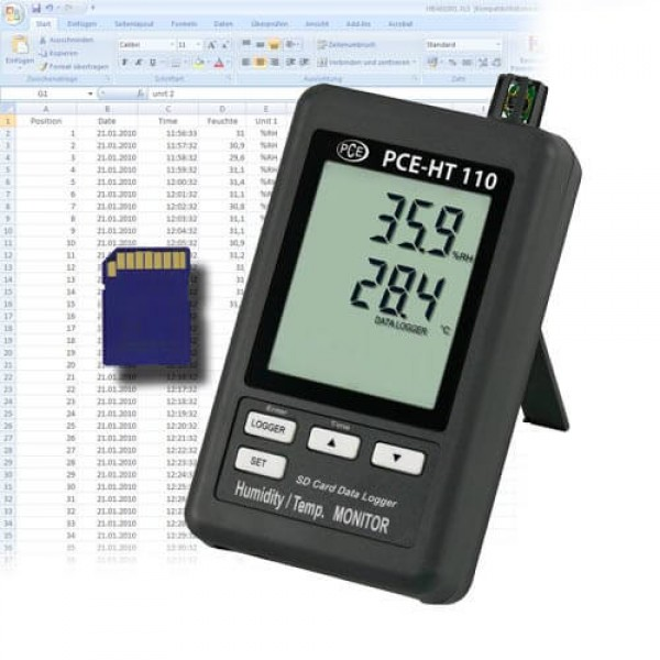 PCE-HT110 регистратор температуры и влажности