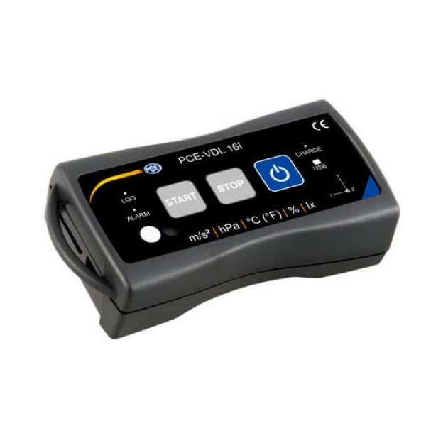 PCE-VDL 16l регистратор температуры/влажности/освещенности/вибрации/давления (1600 Гц)
