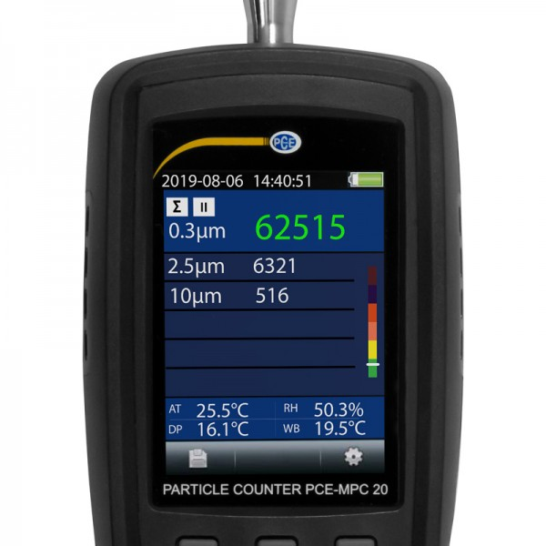 PCE-MPC 20 мобильный счетчик частиц/термогигрометр c функцией измерения концентрации частиц