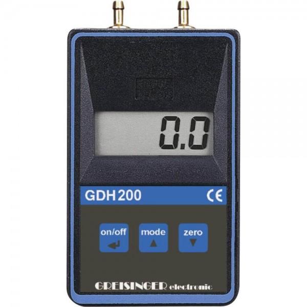 Greisinger GDH 200-07 профессиональный манометр дифференциального и абсолютного давления -199...199 mbar