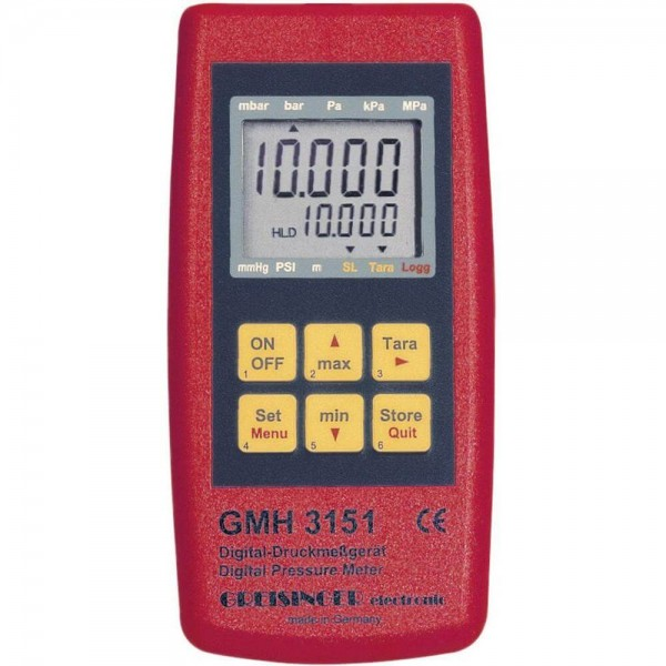 Greisinger GMH 3156 манометр-регистратор с взрывозащитой (опция) с подключением двух выносных датчиков