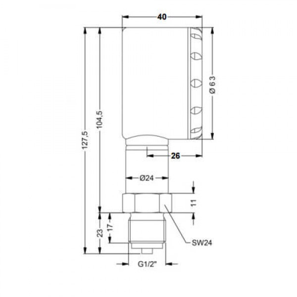 PCE-DMM11 манометр относительного давления для масел, топлива, кислорода