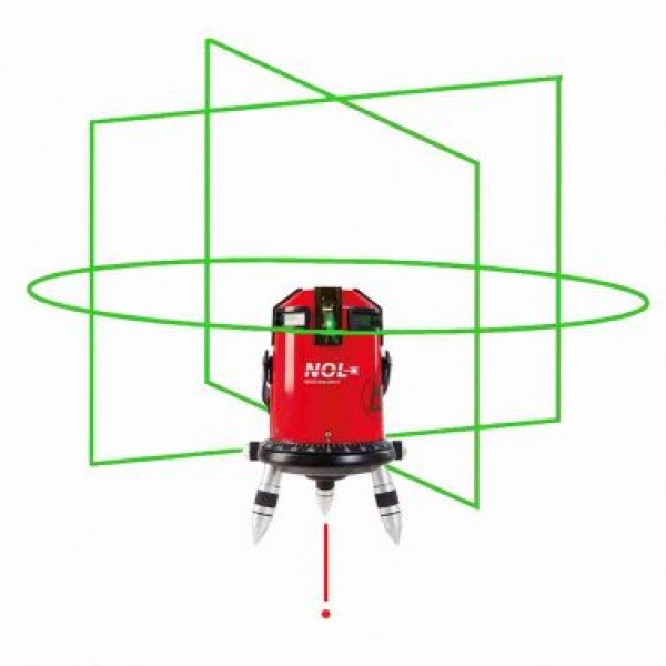 Nestle Octoliner G лазерный нивелир с построением зелёной горизонтальной линии на 360°