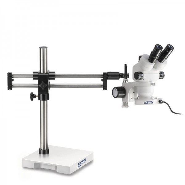 KERN OZL-932 стереомикроскоп c шарикоподшипниковым двойным кронштейном и круговой подсветкой