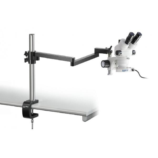 KERN OZM-952 стереомикроскоп c шарнирным кронштейном и круговой подсветкой