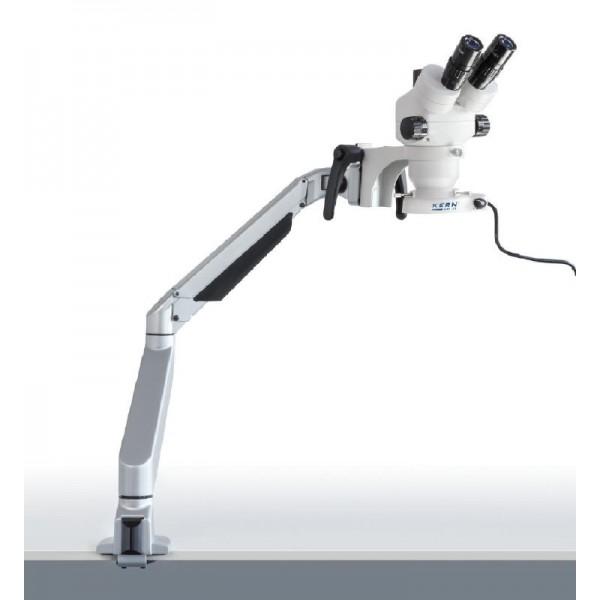 KERN OZM-982 стереомикроскоп c пружинным кронштейном и круговой подсветкой