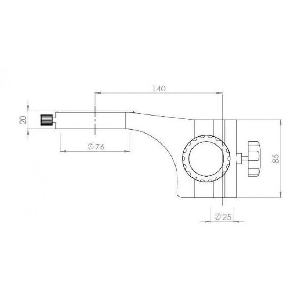 KERN OZM-933 стереомикроскоп c шарикоподшипниковым двойным кронштейном и круговой подсветкой