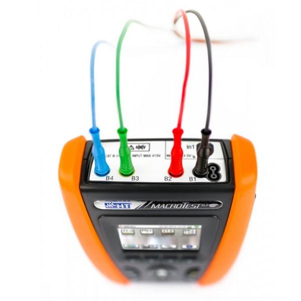 HT-MACROTEST G2 многофункциональный тестер для измерения сопротивления заземления, целостности защитных проводников с сенсорным дисплеем и встроенным Wi-Fi